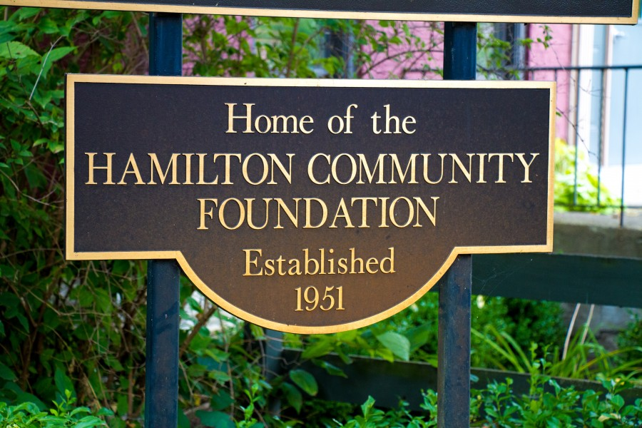 Hamilton Community Foundation sign